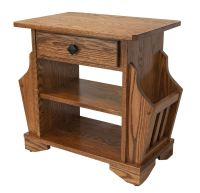 Amish made Mission style magazine rack end table. Four ...