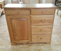 Amish made Delux tilt out trash bin cabinet. Four Seasons ...