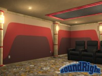 Home Theater Acoustical Wall Paneling