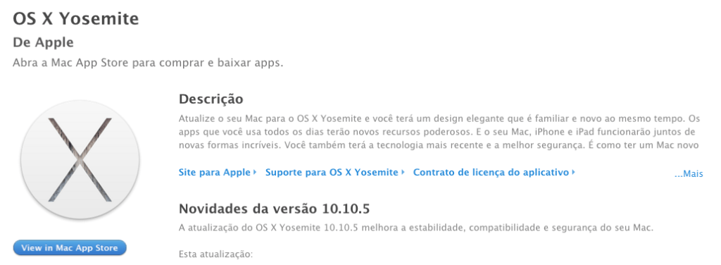 OS X Yosemite Update 10.10.5