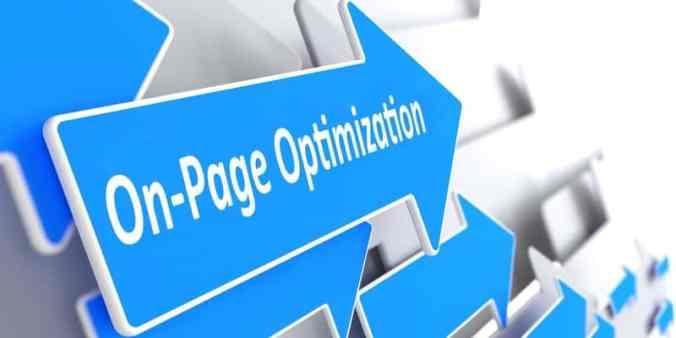 SEO on page optimization