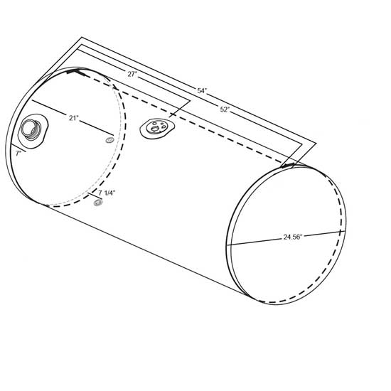2007 kenworth w900 wiring diagrams telescope optics ray diagram semi truck database fuel tank 100 gal 24 5 x 54 inch driver front fill replaces t800 schematic