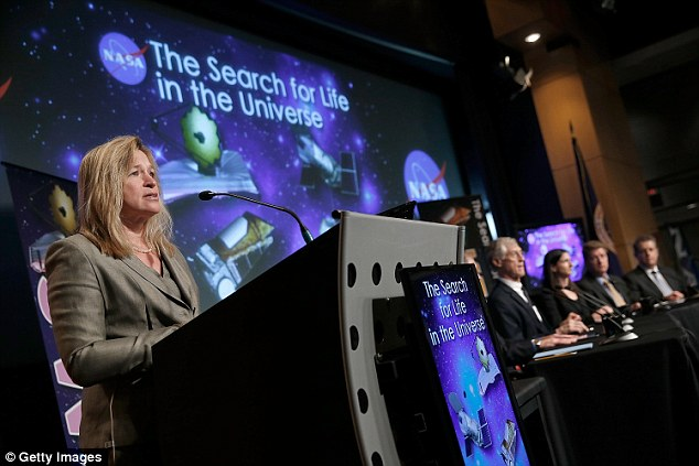 During a talk today, Nasa announced that humanity will encounter extra-terrestrials within a decade. 'I believe we are going to have strong indications of life beyond Earth in the next decade and definitive evidence in the next 10 to 20 years,' said Ellen Stofan, chief scientist for Nasa, (pictured) at a Washington panel discussion
