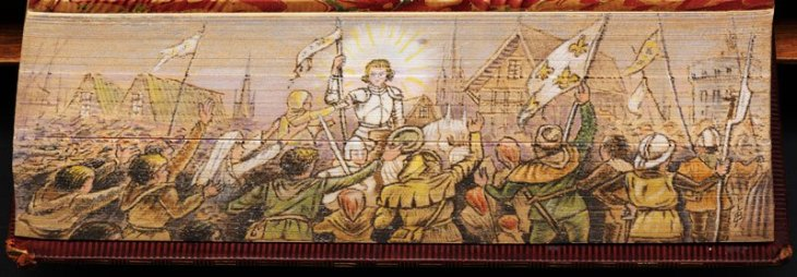 joan of arc fore edge book painting