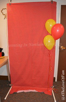 DIY Collapsible Storable Photobooth Frame from 4 The Love Of Family covered