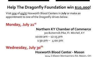 Dragonfly Foundation's Bleed For A Cause: NKY Blood Drive – July 21