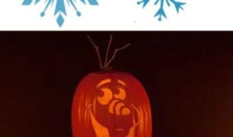 Free FROZEN Pumpkin Carving Halloween Templates ~ FREE Stencil Printables (Elsa, Anna, Olaf, Kristoff)