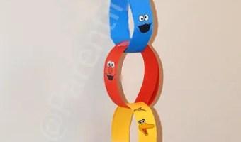DIY Sesame Street Countdown Chain + Free Sesame Street Font & Printables