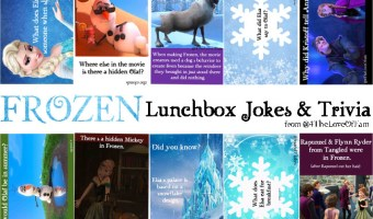 FROZEN Lunchbox Jokes & Trivia -FREE Printable
