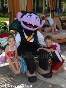 We hung out with Sesame Street on the Caribbean Beach at Beaches Resorts Turks and Caicos!!