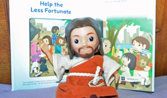 Your Child Can Play Out The Stories Of The Bible w/ The Jesus Sees Us Doll & Book Set