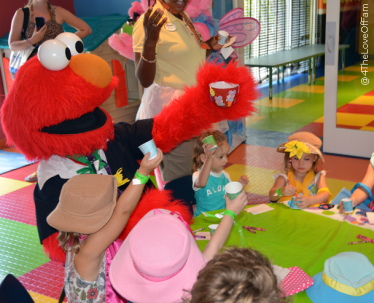 We helped Elmo surprise Abby Cadabby with a Tea Time party at Beaches Resorts!