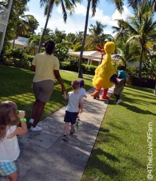 We bird watched with Big Bird at Beaches Resorts ~ Sesame Street