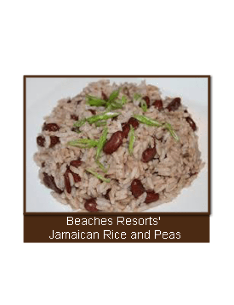 A little bit of Caribbean yumminess! Beaches Resort's Jamaican Rice And Peas / Beans recipe