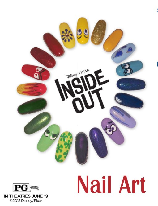 How are you feeling today? Do your nails tell? ** Coordinate Your Nails & Your Emotions With Disney's Inside Out Nail Art DIY * Do It Yourself from @4TheLoveOfFam