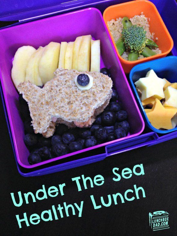 Perfect for summer camp! Under The Sea Bento Lunch from LunchBox Dad ~ 4 The Love Of Family