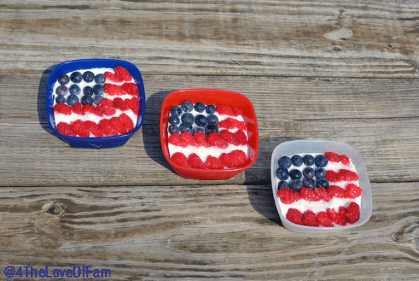 Perfect recipe for the kids on 4th of July, Memorial Day or Labor Day! ~ Yummy Individual Frozen Patriotic Flag Desserts from @4TheloveOfFam