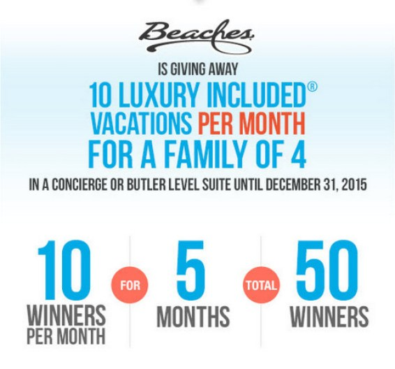 50 Beaches Resorts vacations being given away??? I SO HOPE I win!