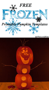 Free #Disney 's #FROZEN Pumpkin Carving #Halloween Templates ~ #FREE Stencil Printables (Elsa, Anna, Olaf, Kristoff)