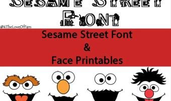 FREE Sesame Street Font & Face Printables