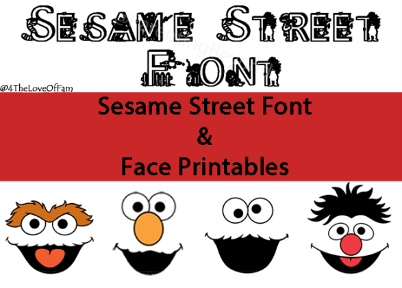 Could use these for so many things!! FREE Sesame Street Font and Face Printables from 4 The Love Of Family