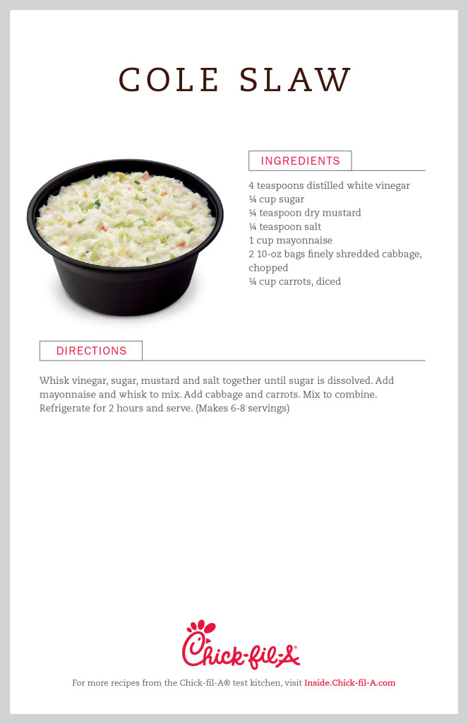 The Chick-Fil-A Cole Slaw Recipe!!!! The Chick-Fil-A Cole Slaw Rumors are TRUE (But We Have The Recipe For You)