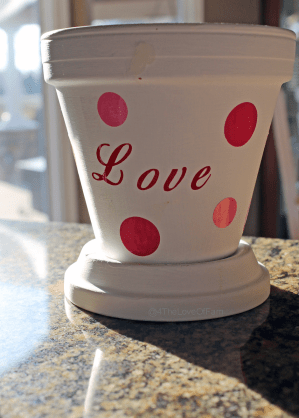The cutest Valentine's Day craft EVER!!! DIY Family Photo Love Planter