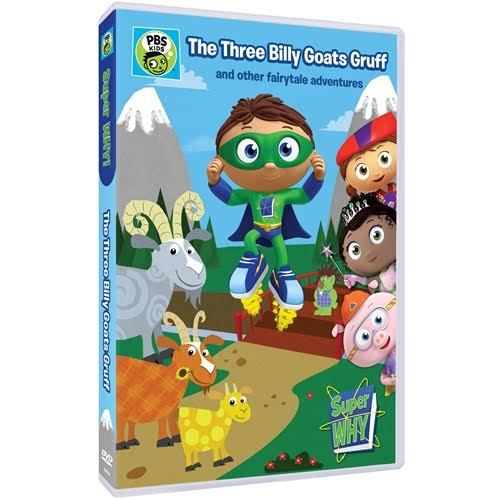 "SUPER WHY DVD ""The Three Billy Goats Gruff & Other Fairytale Adventures"""