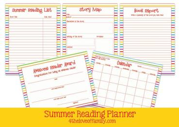 Printable Summer Reading Packet & Tracker Guide