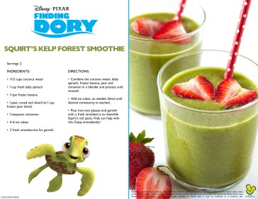 Finding Dory: Squirt's Kelp Forest Smoothie Recipe + Crush Clip