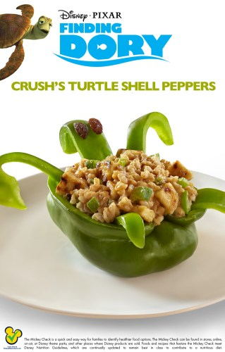 Finding Dory: Crush's Turtle Shell Stuffed Peppers Recipe