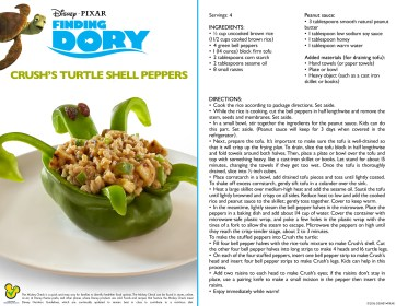 Finding Dory: Crush's Turtle Shell Stuffed Peppers Recipe + Crush Clip