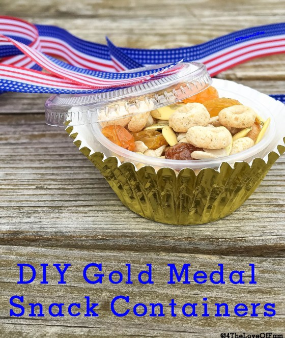 DIY Olympic Gold Medal Snack Containers from 4 The Love Of Familyw