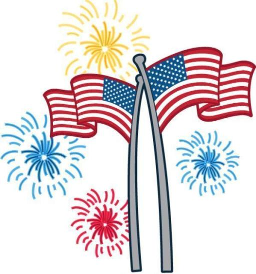 4th of July Fireworks Clipart