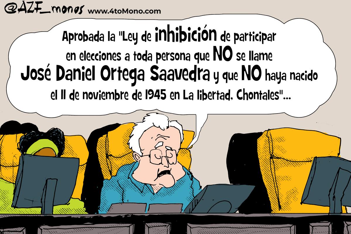 Ortega inhibe por ley a los opositores