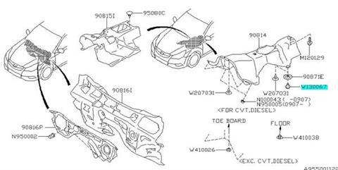 Clip Subaru Legacy 2001-2012, Impreza (WRX/STI) 2002-2012