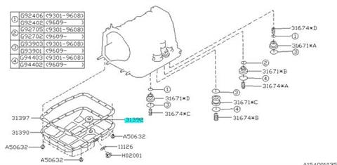 Magnet oil pan Impreza GT 1993-1998, Forester 1998-2002