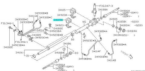 Guma przekładni kierowniczej Impreza (GT/WRX) 1992-2008