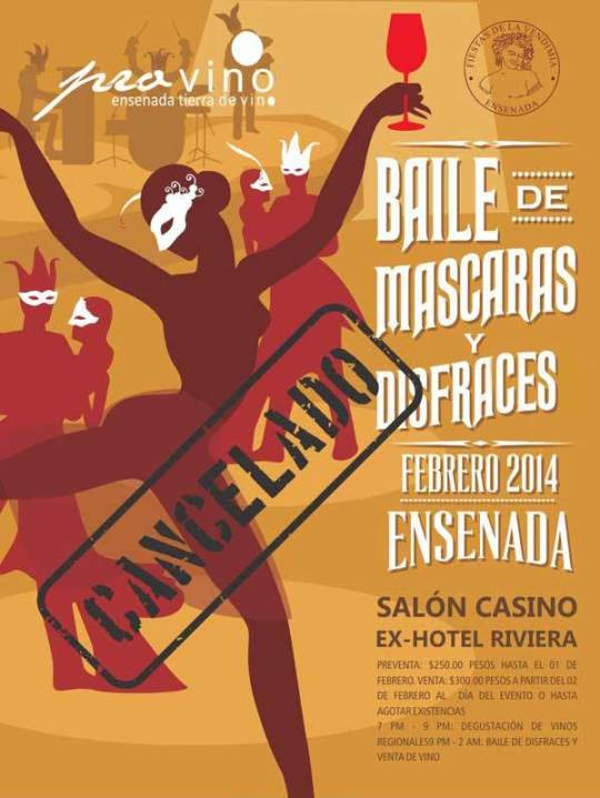 VINISFERA CANCELA EVENTO