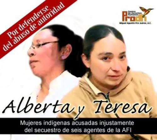 ALBERTA Y TERESA INDIGENAS OTOMIS