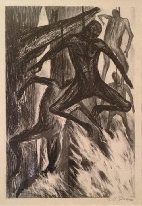 Negros colgados, cuadro de José Clemente Orozco (Foto: internet).