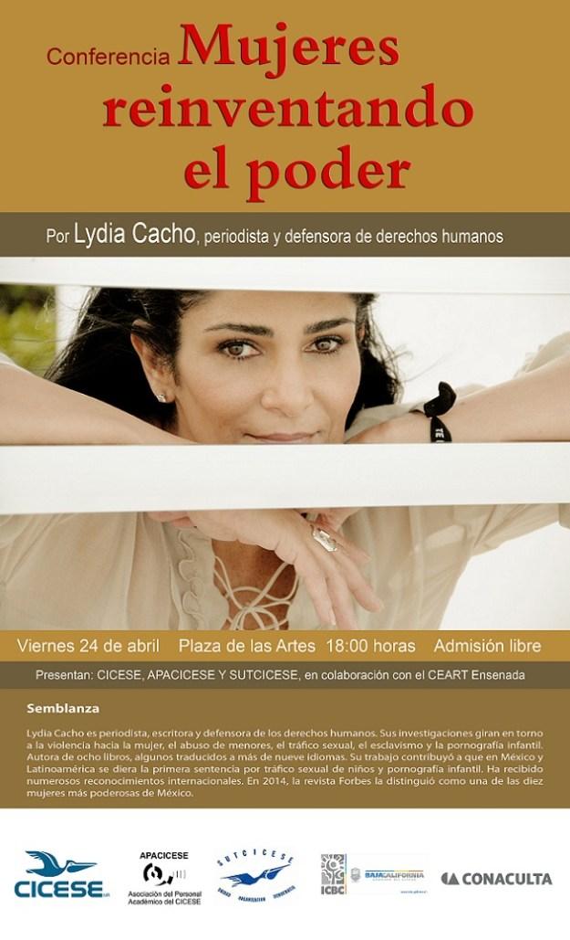 LYDIA CACHO CONFERENCIA