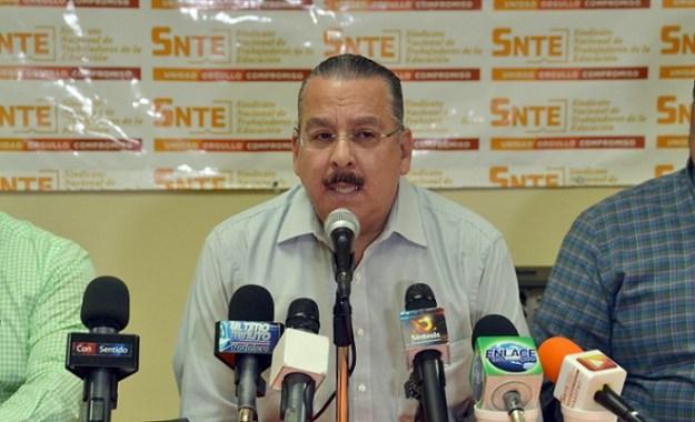 El secretario general de la Sección 2 del SNTE en Baja California, profesor Alejandro Gudino (Foto: Cortesía).