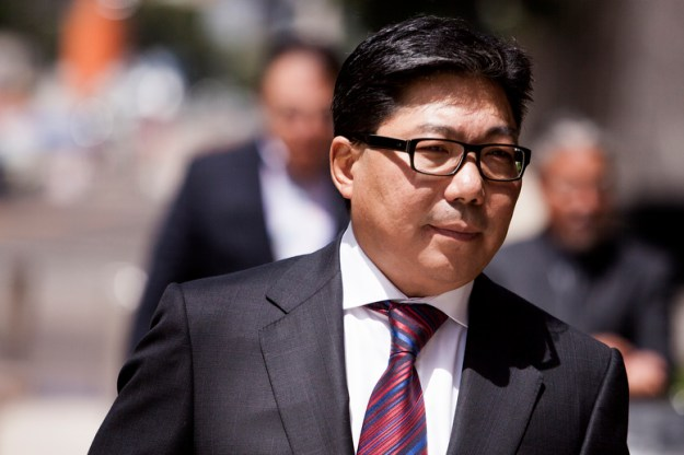 Susumo Azano heads into a hearing in federal court on Monday, August 25, 2014.