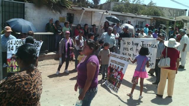 JORNALEROS PRESOS EDA FAMILIAS PROTESTA