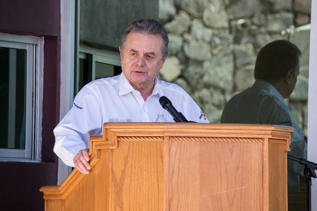 El secretario de Energía, en la ceremonia de inauguración (Cortesía CICESE).