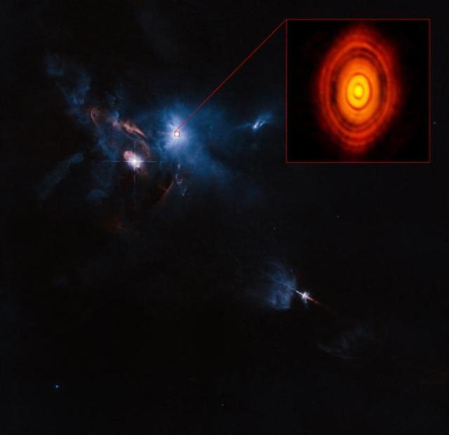 La estrella HL Tauri y su entorno universal (Foto: internet)