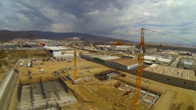 Construcción de la Planta desalinizadora de agua de mar, en el puerto de Ensenada, Baja California.
