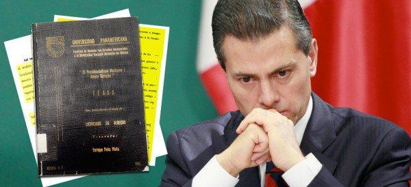 """La UP confirma plagio en tesis de Enrique Peña Nieto, pero considera que por tratarse de """"un hecho consumado"""" no es posible aplicar sanciones."""