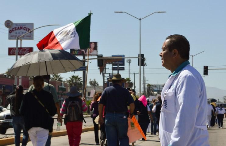 Momentos de la marcha por la salud
